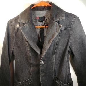 NWOT Diesel Women's L Black Jean Jacket